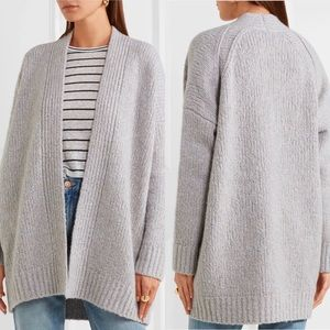VINCE Wool, Cashmere and Silk-Blend Cardigan Grey